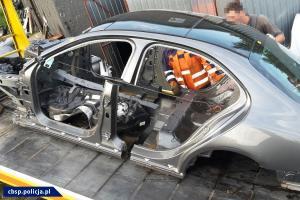 Karoseria kradzionego samochodu